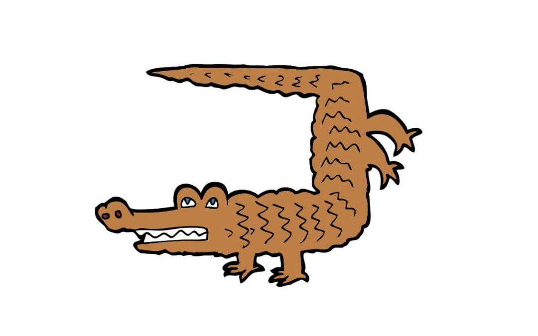 Help, er zit een krokodil onder mijn bed!